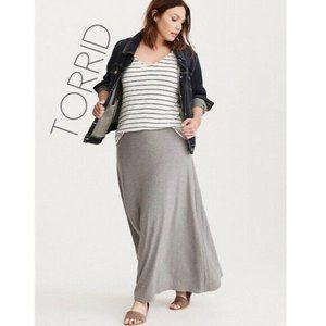 Torrid Jersey Knit Gray Long Maxi Skirt 2X